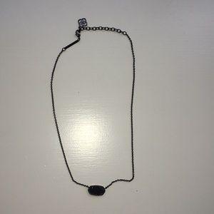 "Black Kendra Scott ""Drusy"" Necklace"